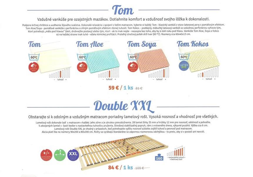 Zdravotné vankúše TOM,prikrývky a topery